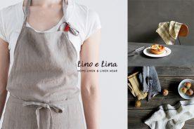 リネンのエプロンが人気のLino e Lina(リーノ・エ・リーナ)をご紹介