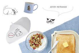 猫雑貨のある暮らし_モーニングルーティーン